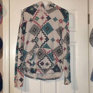 Tribal Print Light-weight Sweatshirt